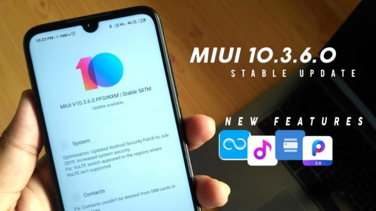 MIUI 10.3.6.0 Stable Update For Redmi Note 7 & 7s-Download Link