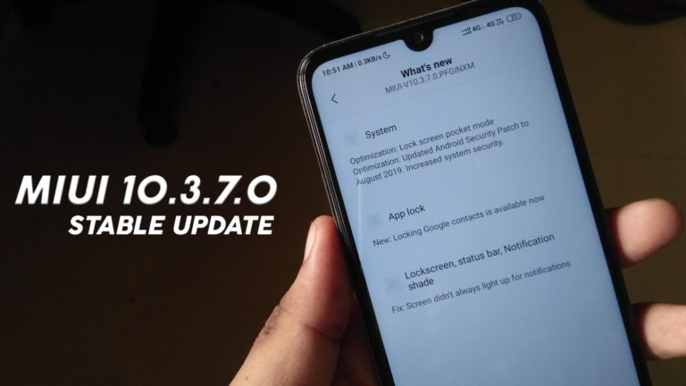 MIUI 10.3.7.0 Stable Update For Redmi Note 7 & 7s-Download Link